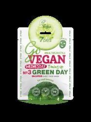 7Days GoVegan Salad Sheet Face Mask Wednesday Green Day Wyrównująca koloryt maska w płachcie 25g