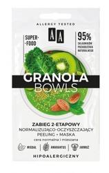 AA Granola Bowls Dwuetapowy zabieg normalizująco-oczyszczający peeling+maska 2x4ml