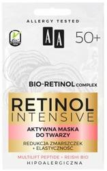 AA Retinol Intensive 50+ aktywna maska do twarzy redukcja zmarszczek+elastyczność 2x5 ml