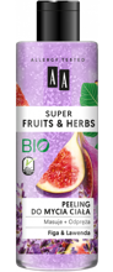 AA Super Fruits&Herbs Peeling do mycia ciała figa/lawenda 200ml