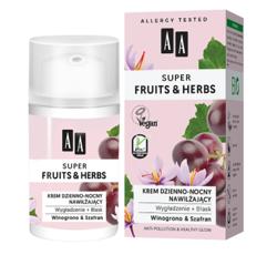 AA Super Fruits&Herbs krem dzienno-nocny nawilżający winogrono/szafran 50ml