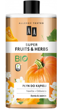 AA Super Fruits&Herbs płyn do kąpieli dynia/jaśmin 750ml