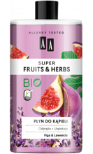 AA Super Fruits&Herbs płyn do kąpieli figa/lawenda 750ml