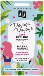 AA Voyage Voyage 2w1 peeling olejowy +maska kremowa Olej monoi&Hibiskus 2x5ml