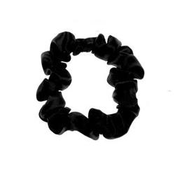 ALMANIA Scrunchie Mała jedwabna gumka do włosów Czarna