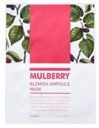 A'pieu Mulberry Blemish Ampoule Mask Nawilżająco-rozjaśniająca maska w płachcie 23g