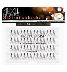 Ardell 3D Individuals Knot Free Long Black - Kępki długich rzęs bez węzełków czarne 56 sztuk