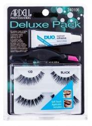 Ardell Deluxe Pack - Zestaw sztucznych rzęs w pasku 120 Demi Black, 2 pary