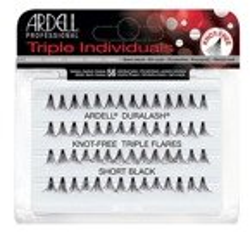 Ardell Duralash Knot Free Triple Short Black Kępki krótkich rzęs bez węzełków czarne Short 56 sztuk