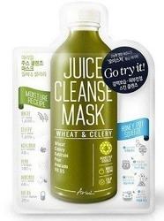 Ariul Juice Cleanse Mask Wheat&Celery Maska do twarzy w płachcie intensywnie nawilżająca