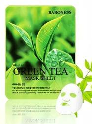 BARONESS Green Tea Mask Sheet maseczka do twarzy z ekstraktem z zielonej herbaty