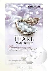 BARONESS Pearl Mask Sheet maseczka do twarzy z ekstraktem z pereł