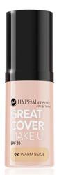 BELL Great Cover make-up Intensywnie kryjący podkład w musie 02 Warm Beige 20g
