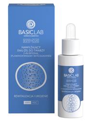 BasicLab Nawilżający emu-żel do twarzy z 4% ektoiną, aminokwasami i beta-glukanem Rewitalizacja i ukojenie 30ml