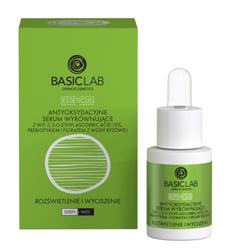 BasicLab Rozświetlenie i wyciszenie Antyoksydacyjne serum wyrównujące z witaminą C 15% 15ml