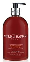 Baylis&Harding Mydło do rąk w płynie dla mężczyzn Black&Ginseng 500ml