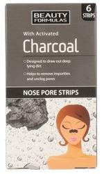 Beauty Formulas Charcoal Paski oczyszczające na nos 6szt.