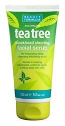 Beauty Formulas Tea Tree Oczyszczający peeling do twarzy 150ml