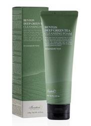 Benton Deep Green Tea Cleansing Foam Odświeżająca pianka do mycia twarzy 120g