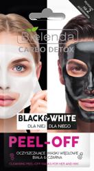 Bielenda Carbo Detox Black&White Oczyszczające maski węglowe dla niej i dla niego 2x6g