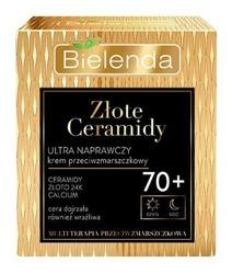 Bielenda Złote Ceramidy Ultranaprawczy przeciwzmarszczkowy krem do twarzy 70+ dzień/noc 50ml