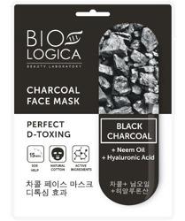 BioLogica Charcoal Maska w Płachcie Skuteczny Detoks