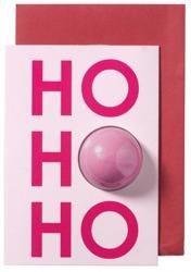 Bomb Cosmetics Kartka świąteczna z kulą musującą do kąpieli Ho Ho Ho