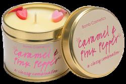 Bomb Cosmetics Świeca zapachowa CARAMEL&PINK PEPPER