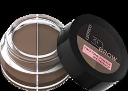 Catrice 3D BROW Two-Tone Pomade Wodoodporna pomada do brwi w dwóch odcieniach 010 light to medium 5g