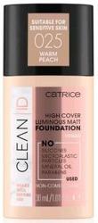 Catrice CLEAN ID High Cover Luminous Matt Foundation Kryjąco-matujący podkład do twarzy 025 30ml