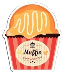 DR.MOLA Muffin sheet mask Oczyszczająca maska w płachcie Gingerbread 23ml
