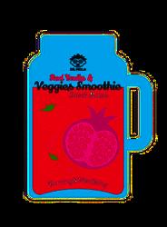 DR.MOLA Smoothie sheet mask Kojąca maska w płachcie Red Fruits&Veggies 23ml