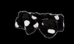 Deni Carte opaska czarna białe kropki