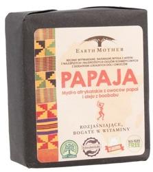 Earth Mother Mydło afrykańskie rozjaśniające i witaminizujące PAPAJA 140g