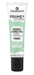 Essence Prime+ Studio Redness Correcting Baza pod makijaż redukująca zaczerwienienia 30ml