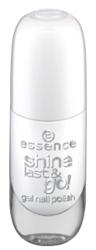 Essence Shine Last&Go! Żelowy lakier do paznokci 33 Wild white ways 8ml