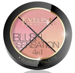 Eveline Blush Sensation Paleta róży do modelowania 4w1