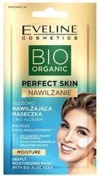 Eveline Cosmetics BIO Organic Perfect Skin Nawilżanie maseczka do twarzy z bioaloesem 8ml