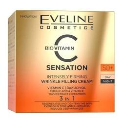 Eveline Cosmetics C-SENSATION Intensywnie ujędrniający krem wypełniający zmarszczki 50+ 50ml