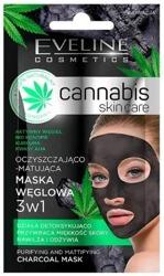 Eveline Cosmetics Cannabis maska węglowa 3w1 Oczyszczająco-Matująca 7ml