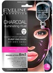 Eveline Cosmetics Charcoal maska w płachcie Oczyszczająca