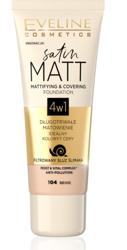Eveline Cosmetics Satin MATT Matująco-kryjący podkład 4w1 104 Beige 30ml