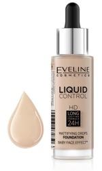 Eveline Liquid Control HD Matujący podkład do twarzy 005 Ivory 32ml