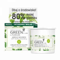 FlosLek GREEN for Skin Nawilżający krem do twarzy z selerem na dzień REFILL 50ml