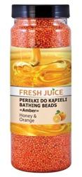 Fresh Juice Perełki do kąpieli - Miód i Pomarańcza 450g