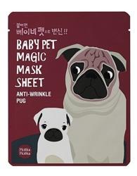 Holika Holika Baby Pet Magic Mask Sheet Anti-Wrinkle Pug - Maseczka do twarzy