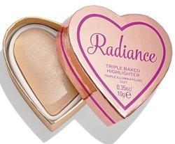 I Heart Revolution Glow Hearts Rays of Radiance Potrójnie wypiekany rozświetlacz