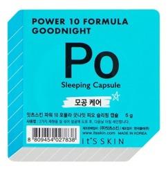 It's Skin Power 10 Formula Good Night Sleeping Capsule Po Dwufazowa maseczka całonocna w kapsułce zwężająca rozszerzone pory 5g