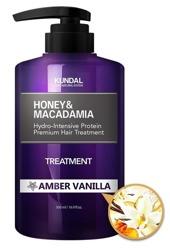 KUNDAL Honey&Macadamia Treatment AMBER VANILLA Odżywka do włosów Wanilia 500ml
