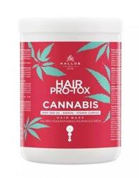 Kallos Hair Pro-tox Cannabis Maska do włosów z olejem z nasion konopi 1L
